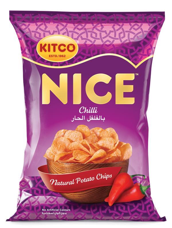 نايس بطاطا شيبس بطعم الفلفل الحار كتكو جملة Potato Chips With Chilli Nice Kitco Jumla