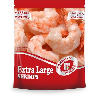 الروبيان المنظف و المقشر بدون ذيل جملة Peeled Deveined Shrimps Tail Off Jumla