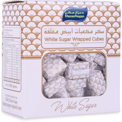 24 500 غرام من سكر مكعبات ابيض مغلفة دعزاز سكر للمنازل جملة 24 500 Gm Of White Sugar Wrapped Cubes Dazaz Sugar For Home Jumla